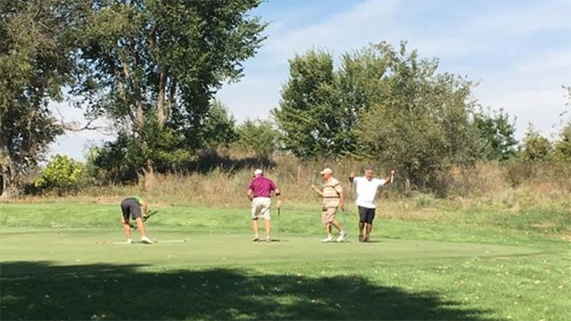 Kansas golf course using goats to control weeds