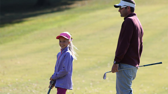 Nine-year old golfer Emree Cameron shines on national stage