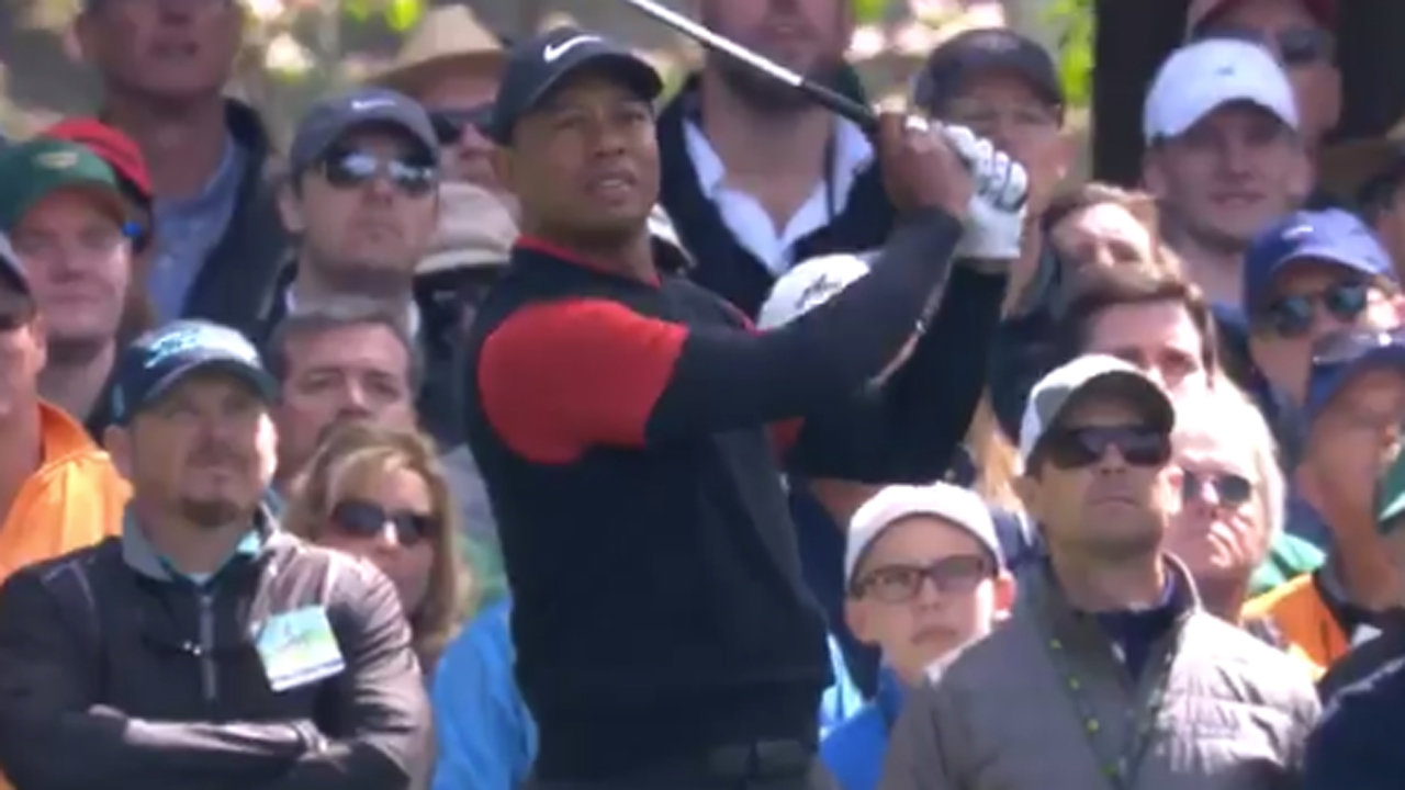 Masters 2018: Tiger Woods nearly aces par-3 fourth