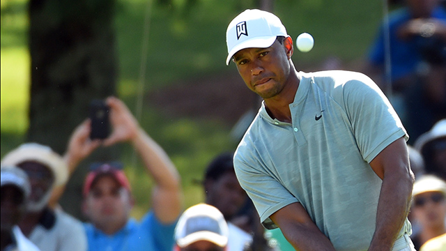 Tiger Woods, Justin Rose share Tour Championship lead heading into weekend