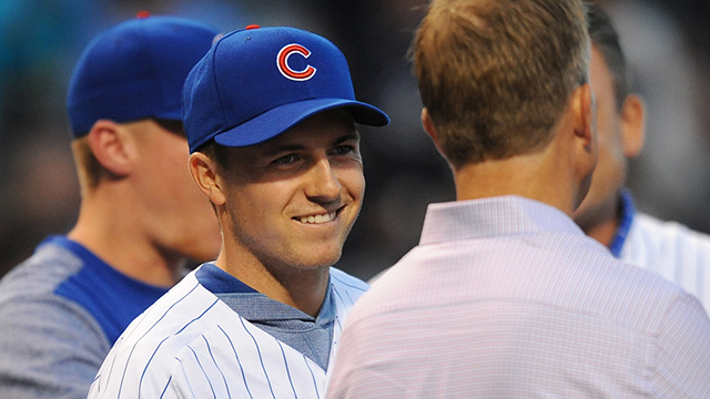 Jordan Spieth, Cubs' Ian Happ bond over golf at Wrigley Field