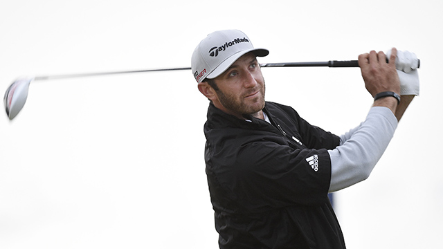 After 10-hour wait for wind, Dustin Johnson leads Open Championship