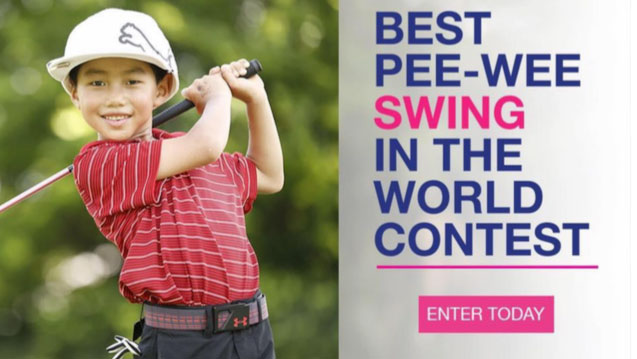 Submit your video for the Little Linksters 'Best Pee-Wee Golf Swing in the World' contest