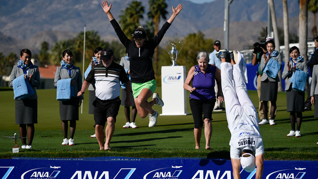 Pernilla Lindberg wins ANA Inspiration after eight playoff holes