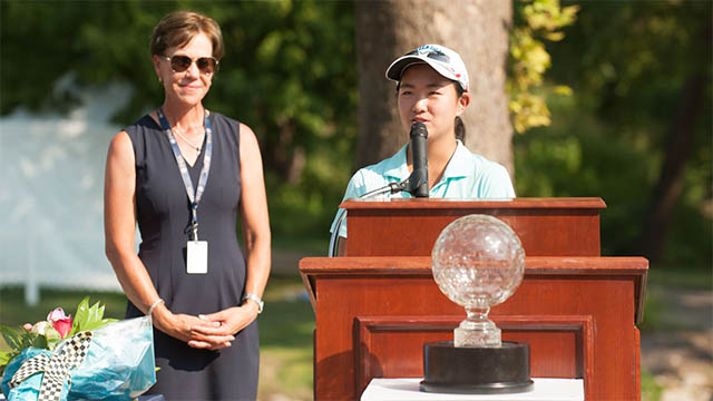 Rose Zhang shares lead at girls Junior PGA Championship after record-tying round